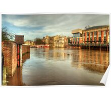 York In Flood Poster