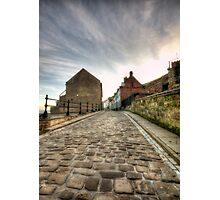 Whitby Cobbled Streets Photographic Print