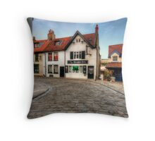 Whitby Cobbled Streets Throw Pillow