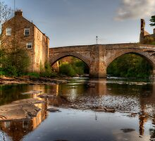 County Bridge, Barnard Castle by English Landscape Prints