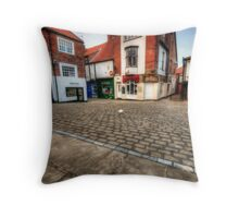 Whitby Old Town Throw Pillow