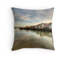 River Esk, Whitby Throw Pillow