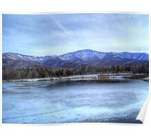 Frozen Lake Arrowhead Poster