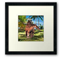 Dinosaur Kentrosaurus Framed Print