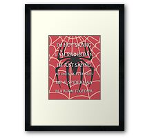 Half Spider - Half Man Framed Print