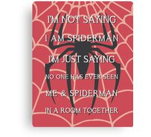 Half Spider - Half Man Canvas Print
