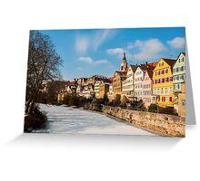 Tübingen - View from the Neckar Bridge Greeting Card