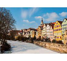 Tübingen - View from the Neckar Bridge Photographic Print