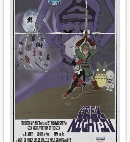 Geek Night: IV The Return Of The Geek Sticker