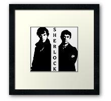 Sherlock & Watson Framed Print