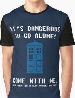 It's Dangerous To Go Alone Take Tardis Graphic T-Shirt