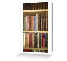 Aged books Greeting Card