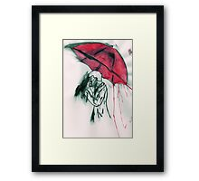 Sherlock in Red Framed Print