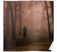 Man Walking Among Trees Poster
