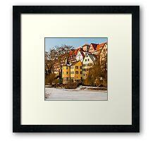 Tübingen - Hölderlinturm by the River Neckar Framed Print