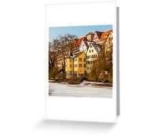 Tübingen - Hölderlinturm by the River Neckar Greeting Card