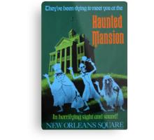 Haunted Mansion Ride Poster Metal Print