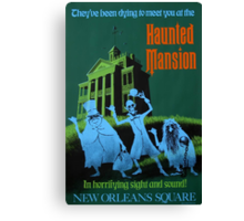 Haunted Mansion Ride Poster Canvas Print