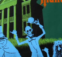 Haunted Mansion Ride Poster Sticker