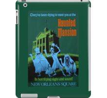 Haunted Mansion Ride Poster iPad Case/Skin