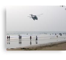 Choppers at the beach? Canvas Print