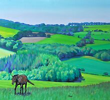 'Summer Grazing' Triptych (right) by HandsonHart
