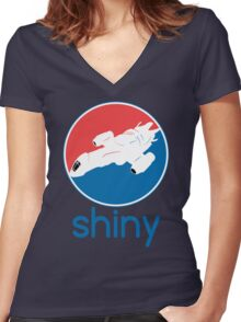 Stay Shiny Women's Fitted V-Neck T-Shirt