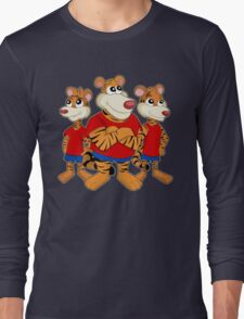Group of cartoon tigers Long Sleeve T-Shirt