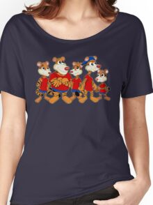 Group of cartoon tigers Women's Relaxed Fit T-Shirt