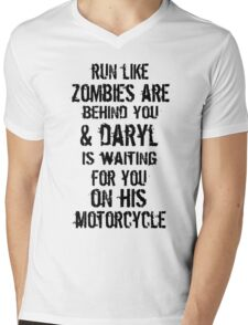 Run Like Daryl Is Waiting Mens V-Neck T-Shirt