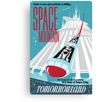 Space Mountain Ride Poster Canvas Print