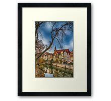 Tübingen - View from the Neckar Bridge 2 Framed Print