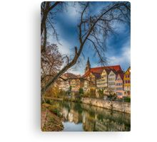 Tübingen - View from the Neckar Bridge 2 Canvas Print