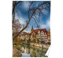 Tübingen - View from the Neckar Bridge 2 Poster