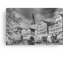 Tübingen - View from the Neckar Bridge 3 Canvas Print