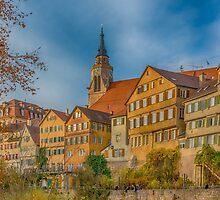 Tübingen - View from the Neckar Bridge 4 by Mark Bangert