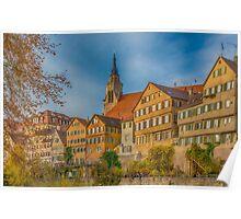 Tübingen - View from the Neckar Bridge 4 Poster
