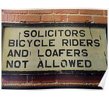 Vintage Train Station Sign Poster