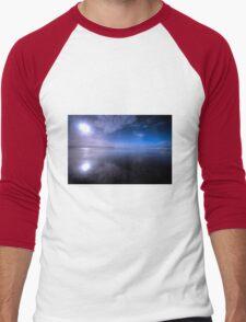 Woolacombe Beach in Blue  Men's Baseball ¾ T-Shirt