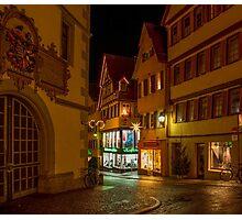Tübingen at Christmas 2 Photographic Print