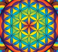 Flower of Life Rainbow Mandala Sticker