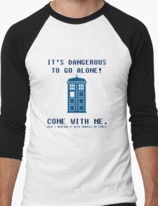 It's Dangerous To Go Alone Take Tardis Men's Baseball ¾ T-Shirt