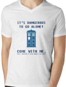 It's Dangerous To Go Alone Take Tardis Mens V-Neck T-Shirt