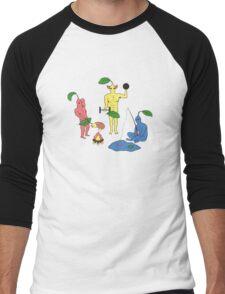 PikMEN Men's Baseball ¾ T-Shirt