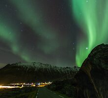 Northern Lights in Norway - Lofoten Islands by Kellie Netherwood