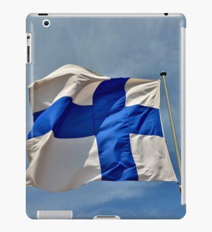 Flag of Finland on blue sky iPad Case/Skin
