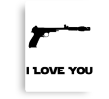 Leia Blaster Canvas Print