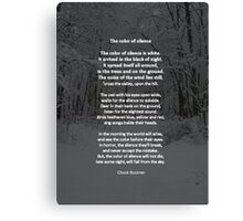 The Color of Silence Canvas Print