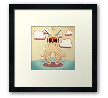 Octopus TV Framed Print