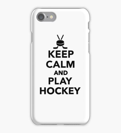 Keep calm and play Hockey  iPhone Case/Skin